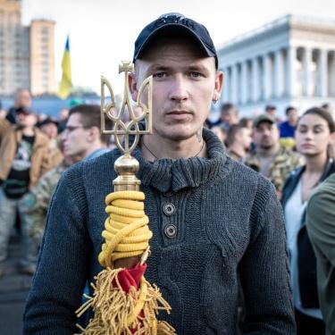 Kyiv, Ukraine (2019). The National day of Ukraine's defenders