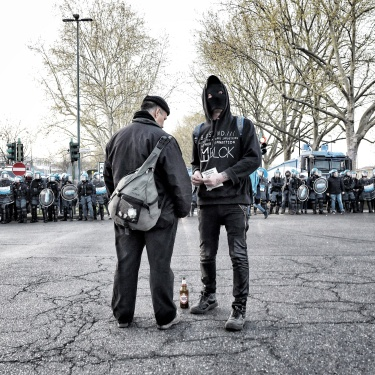 """Turin, Italy (2019). """"We occupy the city"""" anarchist demonstration"""