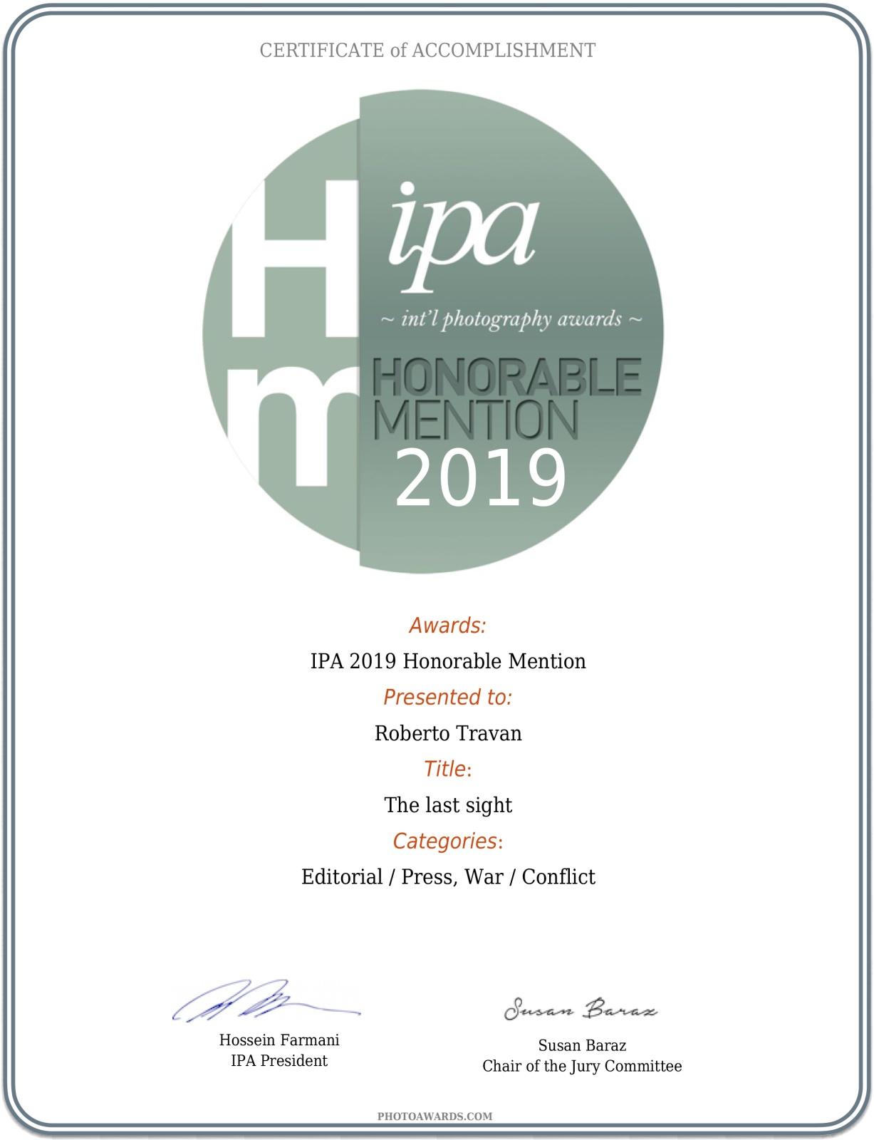 2019 - International Photography Awards
