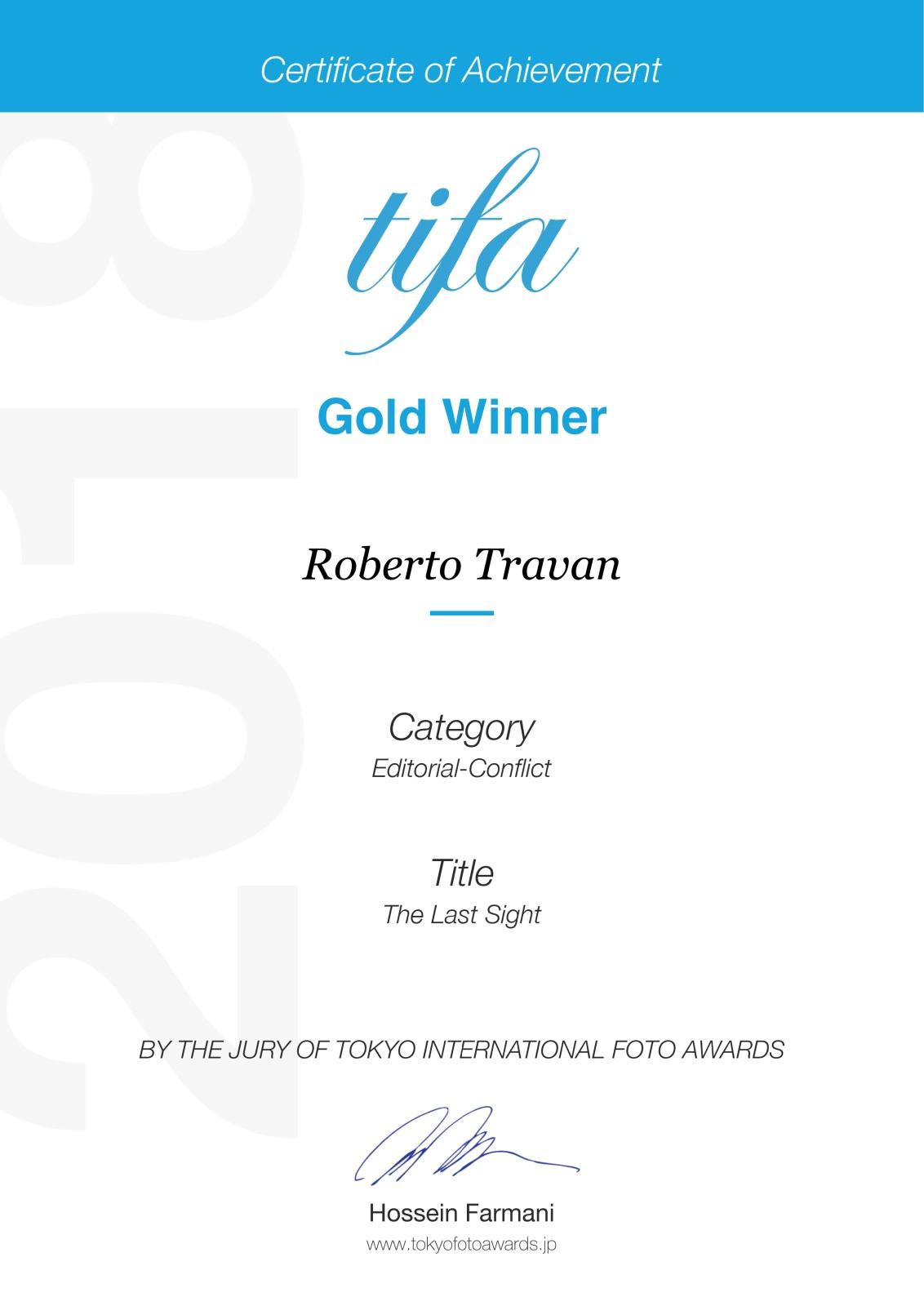 2018 - Tokyo International Foto Awards