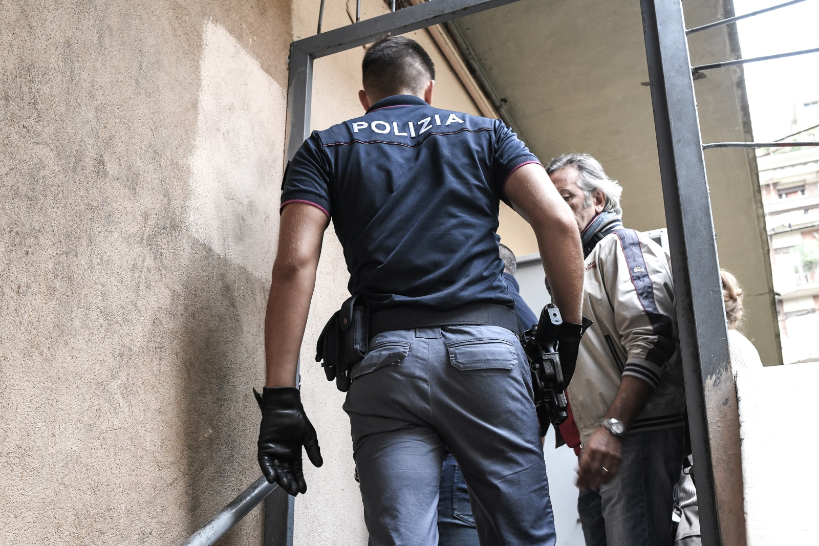 Turin, Italy (2018). The police clear the pusher from the cellars of via Aosta