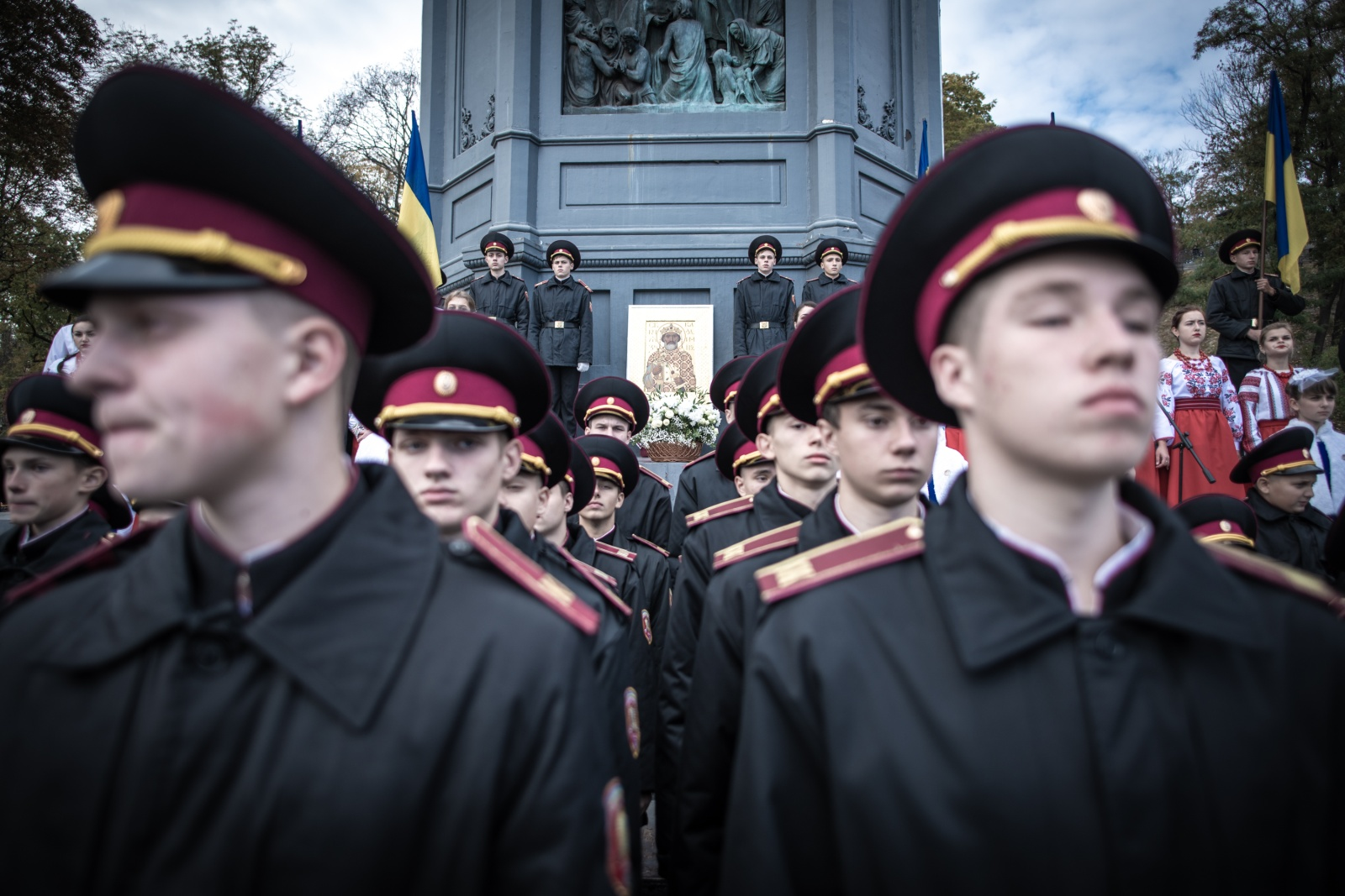 Kyiv, Ukraine (2019). The oat of the cadets of the Ukrainian military academy