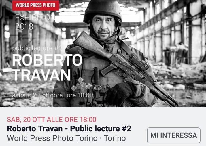 World Press Photo/public lecture - Turin (Italy) - 2018
